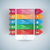 3D Infographic Икона Smartphone Стоковое фото RF