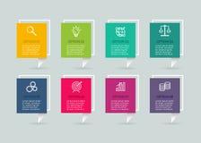 与3D纸标签的传染媒介infographic模板 与4个选择的企业概念 对图,步,零件,图 向量例证