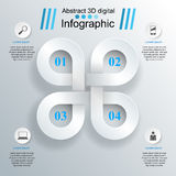 3D infographic design template and marketing icons. Royalty Free Stock Images