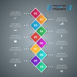 Set 10 items. Business Infographics origami style Vector illustr stock illustration