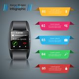 Smartwatch icon. Abstract infographic. 3d infographic design template and marketing icons. Smartwatch icon vector illustration