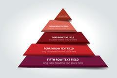 3d infographic driehoek, grafiek, regeling, diagram, lijst, programma, element Royalty-vrije Stock Foto