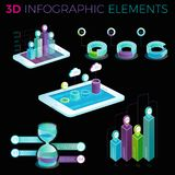 3D Infographic Elements. Infographic elements collection, corporate vector 3D illustration Royalty Free Stock Image