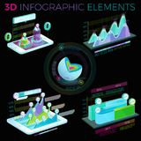 3D Infographic Elements Stock Image