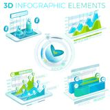 3D Infographic Elements Royalty Free Stock Photo