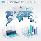 3D Infographic Elements. Infographic elements collection, corporate vector 3D illustration Stock Photo