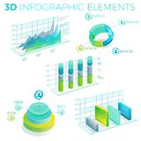 3D Infographic Elements Royalty Free Stock Image