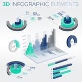 3D Infographic Elements. Infographic elements collection, corporate vector 3D illustration Stock Photos