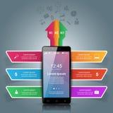 3D Infographic Graphisme de Smartphone Photo stock
