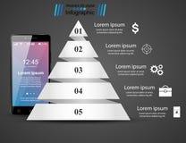 3D Infographic Graphisme de Smartphone Photos libres de droits