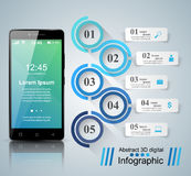 3D Infographic Graphisme de Smartphone Images stock