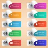 3D Infographic Graphisme de Smartphone Photographie stock
