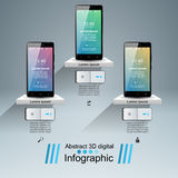 3D Infographic Graphisme de Smartphone Photo libre de droits