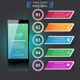 3D Infographic Graphisme de Smartphone illustration de vecteur