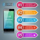 3D Infographic Het pictogram van Smartphone Stock Fotografie