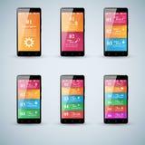 3D Infographic Het pictogram van Smartphone Royalty-vrije Stock Foto's