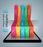 3D Infographic Het pictogram van Smartphone Royalty-vrije Stock Fotografie