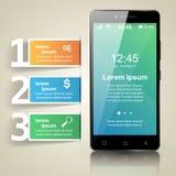 3D Infographic Het pictogram van Smartphone Stock Foto's