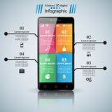 3D Infographic Het pictogram van Smartphone Stock Afbeelding