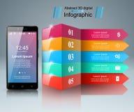 3D Infographic Icona di Smartphone Fotografia Stock