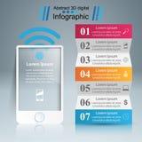 3D Infographic Icona di Smartphone Fotografia Stock Libera da Diritti