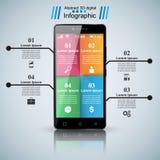 3D Infographic Icona di Smartphone Immagine Stock