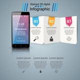 3D Infographic Icono de Smartphone Imágenes de archivo libres de regalías