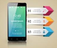 3D Infographic Icono de Smartphone Foto de archivo libre de regalías