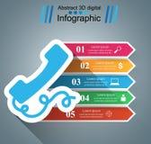 3D Infographic Icono de Smartphone Foto de archivo