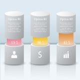 3D Infographic modern vector bars Stock Photos