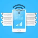 3D infographic ontwerp malplaatje en marketing pictogrammen Smartphone Royalty-vrije Stock Afbeeldingen