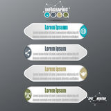 3D Infographic Paper Style Vector Royalty Free Stock Images
