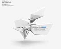3d infographic shapes. Abstract 3d infographic shapes vector background Royalty Free Stock Photography