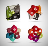 3d infographic shapes modern templates Stock Photos