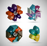 3d infographic shapes modern templates Royalty Free Stock Photography