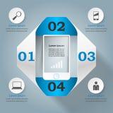 3D Infographic Smartphone图标 图库摄影