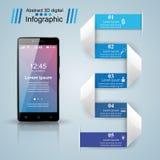 3D Infographic Smartphone图标 库存图片