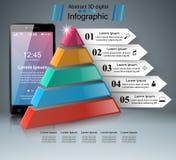 3D Infographic Smartphone图标 库存照片