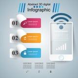 3D Infographic Smartphone图标 免版税库存图片