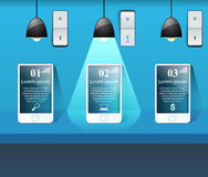 3D infographic. Smartphone icon. Royalty Free Stock Image