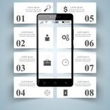 3D infographic. Smartphone icon. Stock Photos