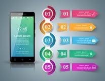 3D Infographic Smartphone ikona Zdjęcie Royalty Free