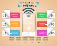 3D Infographic Smartphone ikona Fotografia Royalty Free