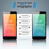 3D Infographic Smartphone ikona Zdjęcia Stock
