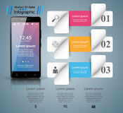3D Infographic Smartphone ikona Fotografia Royalty Free