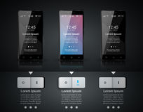 3D Infographic Smartphone ikona Obraz Royalty Free