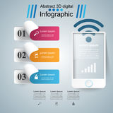 3D Infographic Smartphone ikona Obrazy Royalty Free