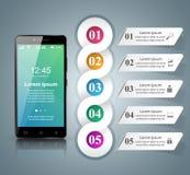 3D Infographic Smartphone ikona Ilustracja Wektor
