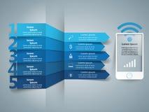 3D Infographic Smartphone ikona Ilustracji