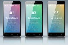 3D Infographic Smartphone Ikone Lizenzfreie Stockfotografie